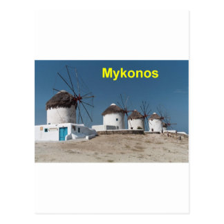 Greece Mykonos Windmills (Aggel) Postcard