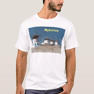 Greece Mykonos Windmills (Aggel) T-Shirt