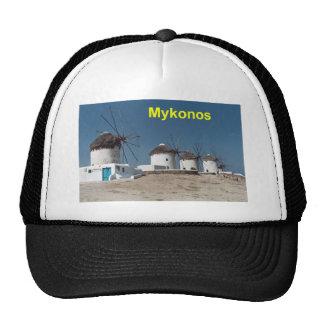Greece Mykonos Windmills (Aggel) Trucker Hat