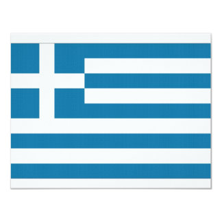 Greece National Flag Personalized Invites