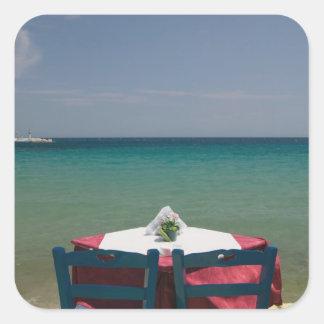 GREECE, Northeastern Aegean Islands, SAMOS, 2 Square Sticker