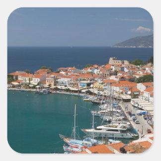 GREECE, Northeastern Aegean Islands, SAMOS, 3 Square Sticker
