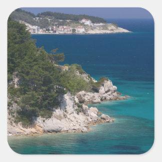 GREECE, Northeastern Aegean Islands, SAMOS, 6 Square Sticker