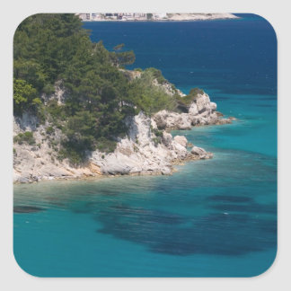 GREECE, Northeastern Aegean Islands, SAMOS, Square Sticker
