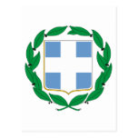 Greece Official Coat Of Arms Heraldry Symbol Postcard