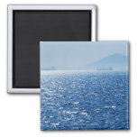 Greece, Oil tankers and cargo ships on Aegean 2 2 Inch Square Magnet