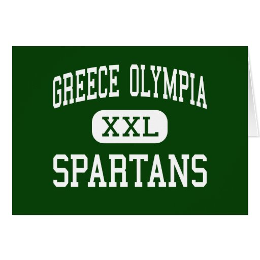 Greece Olympia - Spartans - High - Rochester Greeting Card