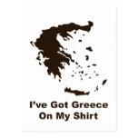 Greece On My Shirt Postcard