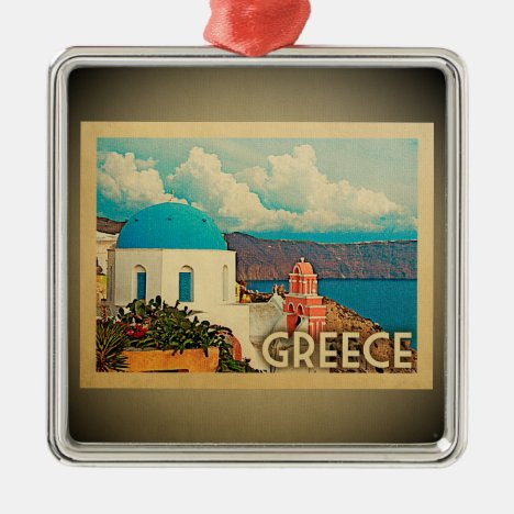 Greece Ornament Vintage Travel