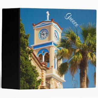 Greece - Orthodox Greek Church with Palm Tree Binder