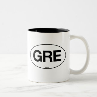 Greece Oval Two-Tone Coffee Mug