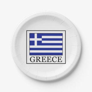 Greece Paper Plate