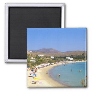 Greece, Paros Island, Krios Beach from above Magnet