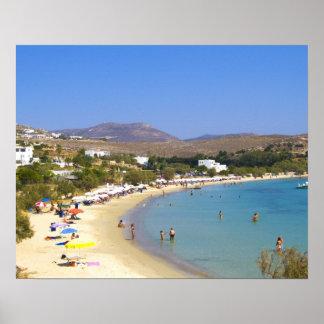 Greece, Paros Island, Krios Beach from above Poster