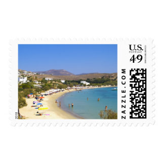 Greece, Paros Island, Krios Beach from above Stamp