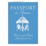 Greece Passport Wedding Invitation