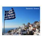 Greece Postcard with Santorini landscape