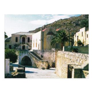 Greece, Preveli Greek Orthodox Monastery Postcard