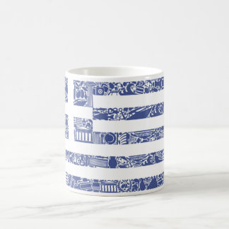 Greece Printed Tattoo Totem Country Flag Classic White Coffee Mug