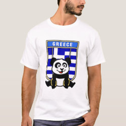 Men's Basic T-Shirt with Greek Rings Panda design