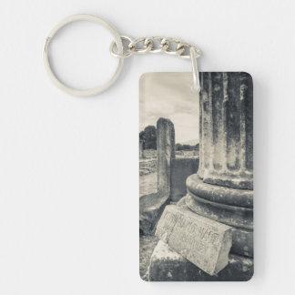 Greece, ruins of ancient city Double-Sided rectangular acrylic keychain