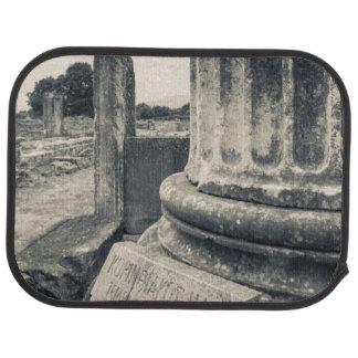 Greece, ruins of ancient city floor mat