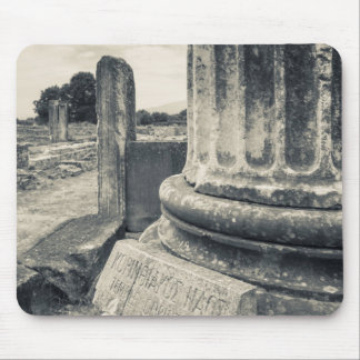 Greece, ruins of ancient city mouse pad