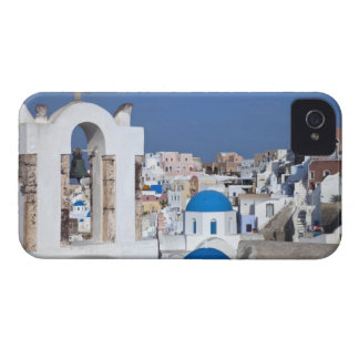 Greece, Santorini. Bell tower and blue domes of 2 Case-Mate iPhone 4 Case