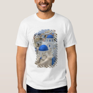 Greece, Santorini. Bell tower and blue domes of 3 Shirt