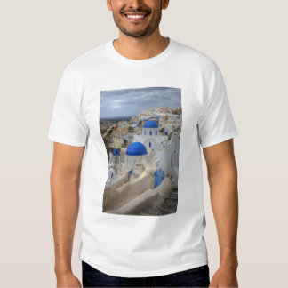 Greece, Santorini. Bell tower and blue domes of 3 Tee Shirt