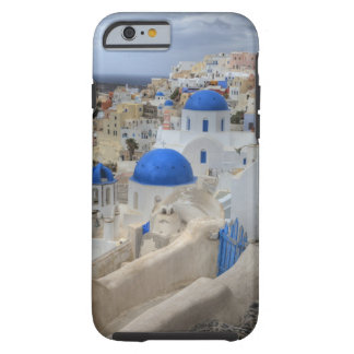 Greece, Santorini. Bell tower and blue domes of 3 Tough iPhone 6 Case