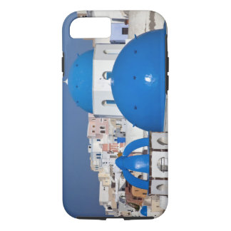 Greece, Santorini. Bell tower and blue domes of iPhone 8/7 Case