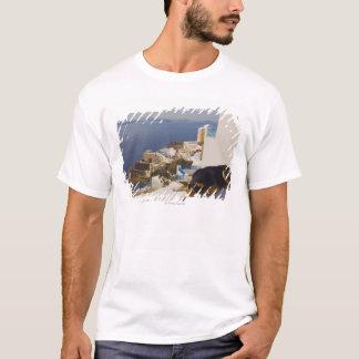 Greece, Santorini Island, Oia City, dog sleeping T-Shirt