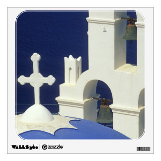 Greece, Santorini. View of a Greek church and Wall Decal