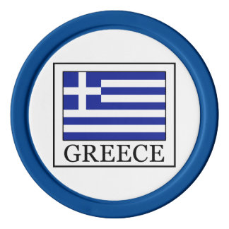 Greece Set Of Poker Chips