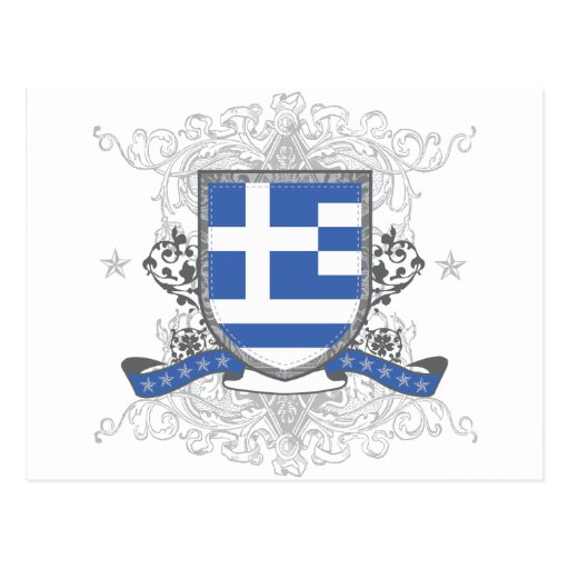 Greece Shield Postcard