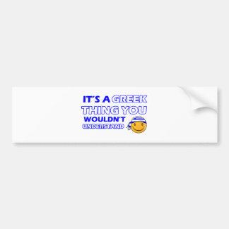 Greece Smiley Designs Bumper Sticker