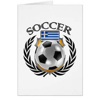 Greece Soccer 2016 Fan Gear Card