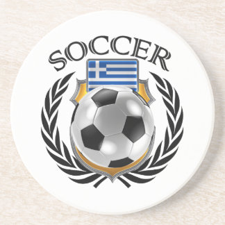 Greece Soccer 2016 Fan Gear Coaster