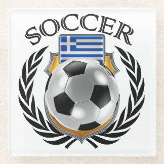 Greece Soccer 2016 Fan Gear Glass Coaster