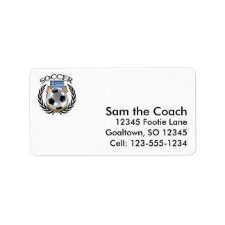 Greece Soccer 2016 Fan Gear Label