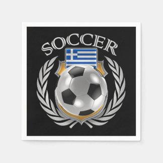 Greece Soccer 2016 Fan Gear Napkin