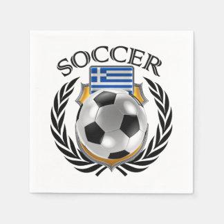 Greece Soccer 2016 Fan Gear Paper Napkin