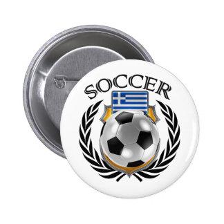 Greece Soccer 2016 Fan Gear Pinback Button