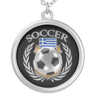 Greece Soccer 2016 Fan Gear Silver Plated Necklace