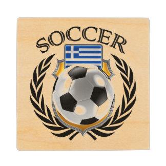 Greece Soccer 2016 Fan Gear Wood Coaster