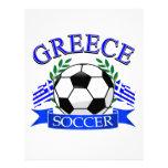 Greece soccer ball designs letterhead