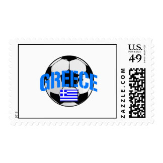 Greece soccer ball Flag of Greece art gifts Stamp