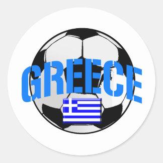 Greece soccer ball Flag of Greece art gifts Classic Round Sticker