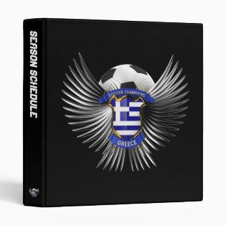 Greece Soccer Champions 3 Ring Binder